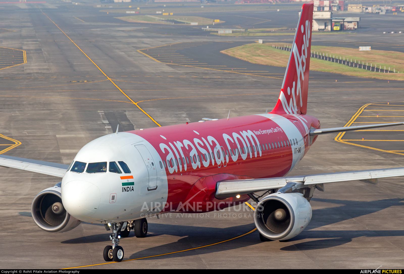AirAsia (India) VT-AMD aircraft at Mumbai - Chhatrapati Shivaji Intl