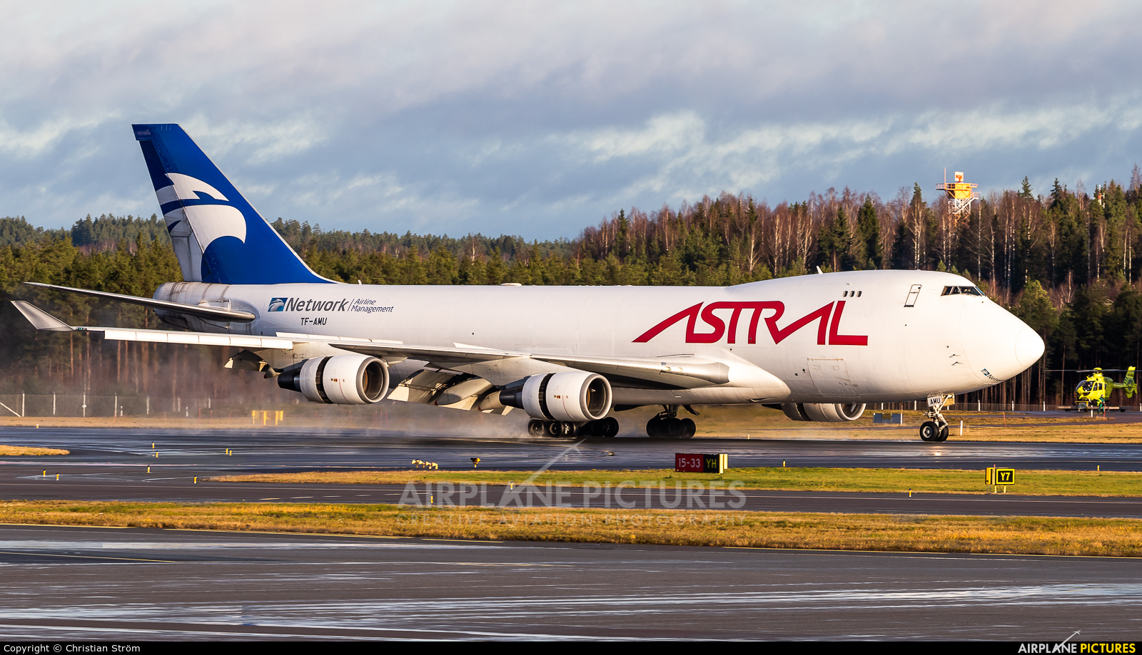 Astral Aviation TF-AMU aircraft at Helsinki - Vantaa