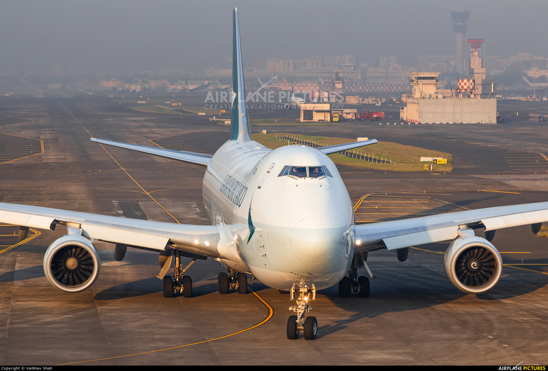 Cathay Pacific Cargo B-LJE aircraft at Mumbai - Chhatrapati Shivaji Intl