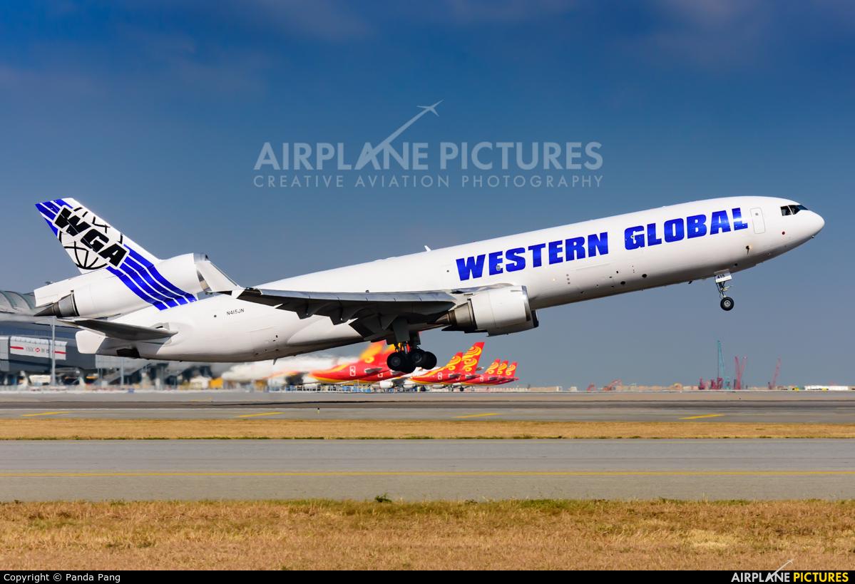 Western Global Airlines N415JN aircraft at HKG - Chek Lap Kok Intl