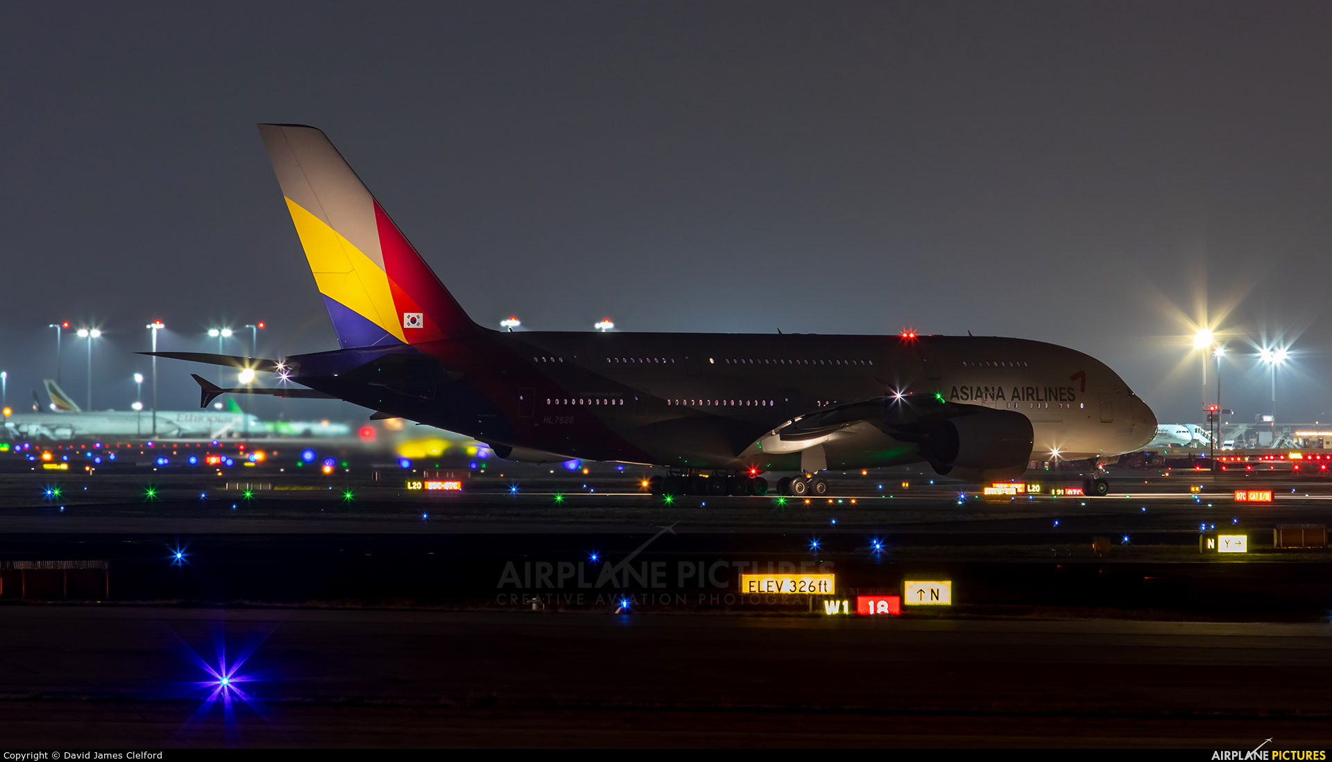 Asiana Airlines HL7626 aircraft at Frankfurt