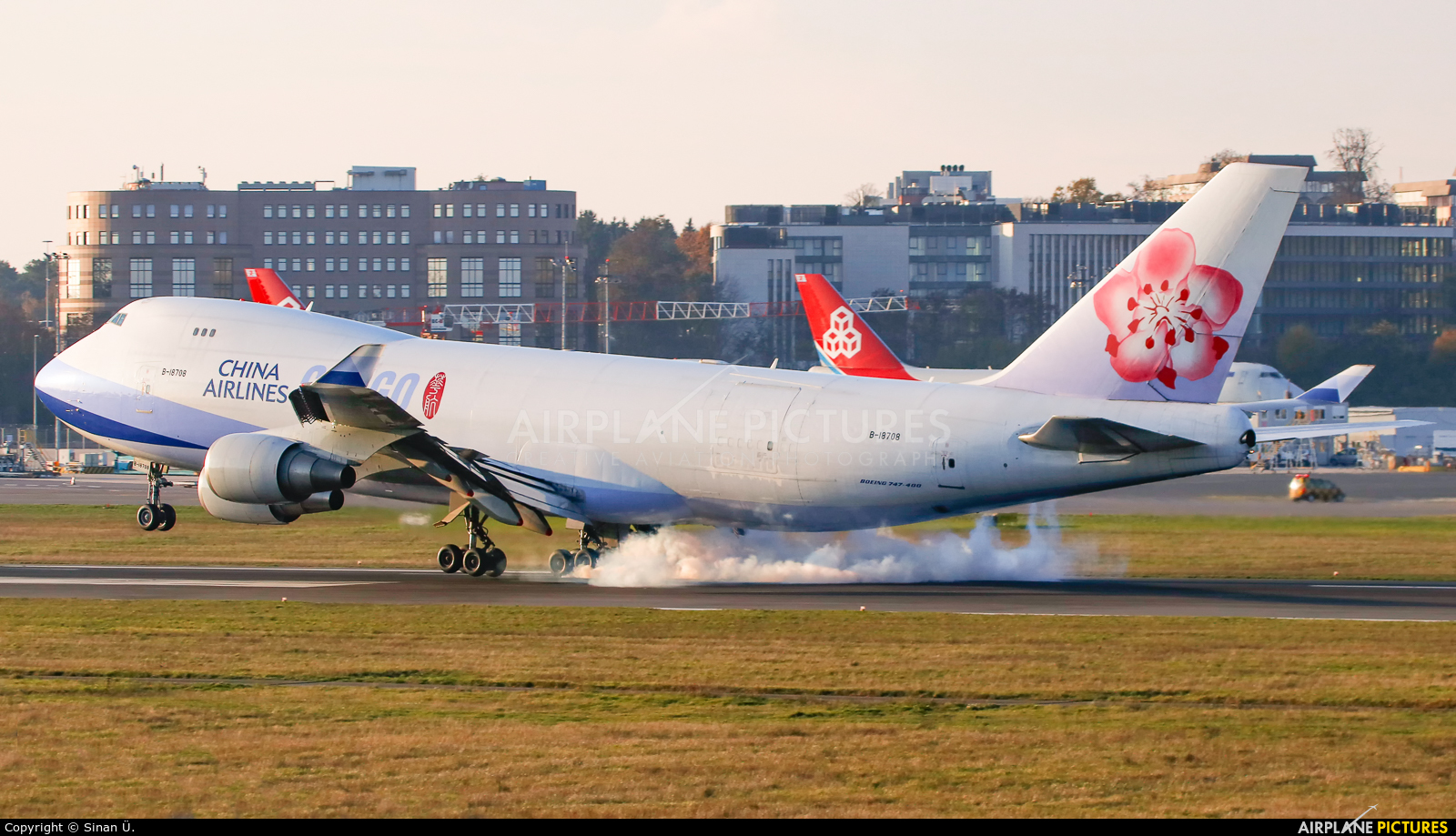 China Airlines Cargo B-18708 aircraft at Luxembourg - Findel