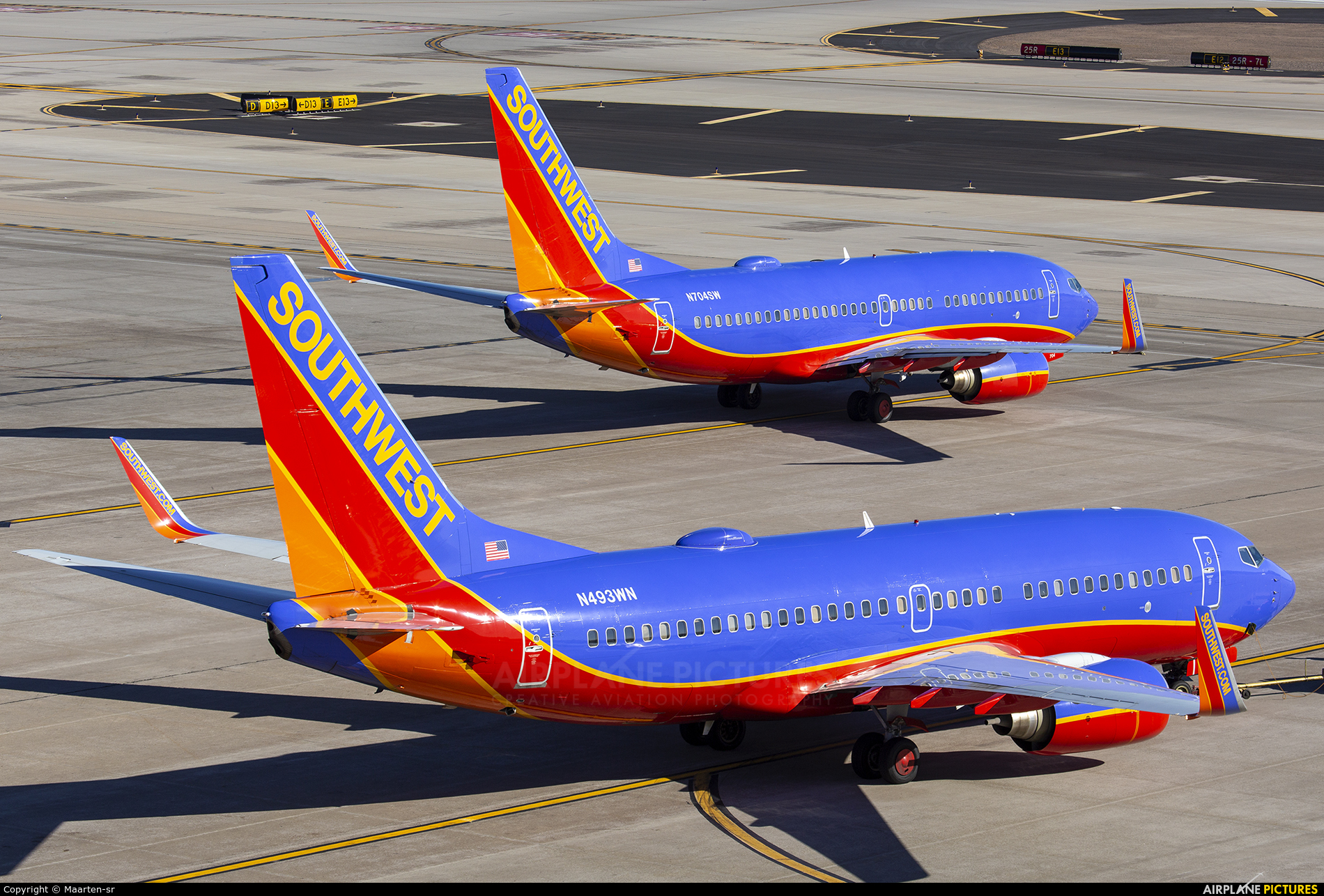 Southwest Airlines N493WN aircraft at Phoenix - Sky Harbor Intl