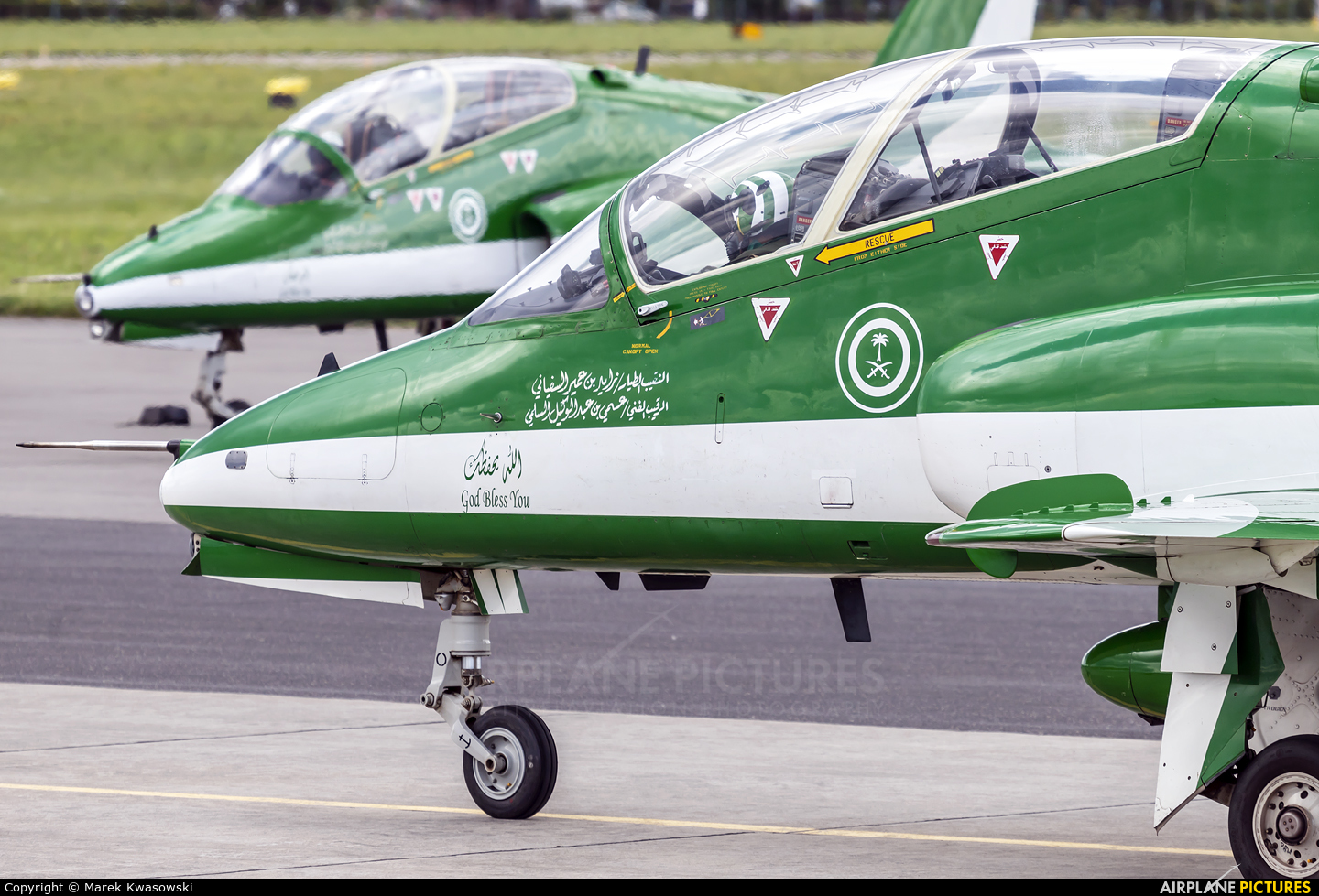 Saudi Arabia - Air Force: Saudi Hawks 8816 aircraft at Gdynia- Babie Doły (Oksywie)