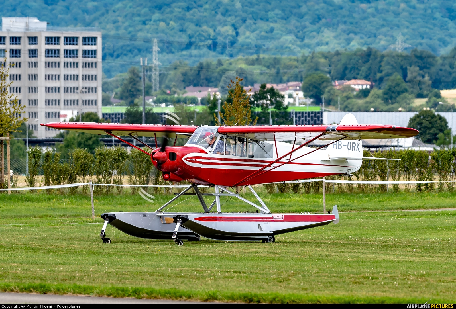 Private HB-ORK aircraft at Birrfeld