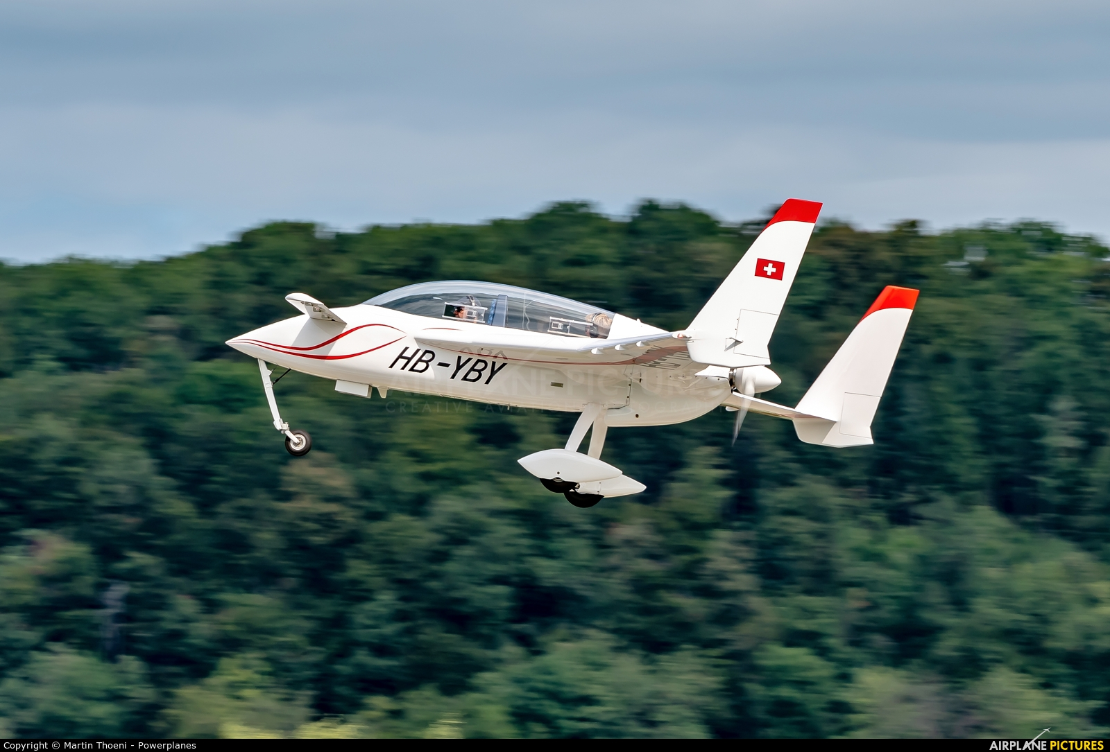 Private HB-YBY aircraft at Birrfeld