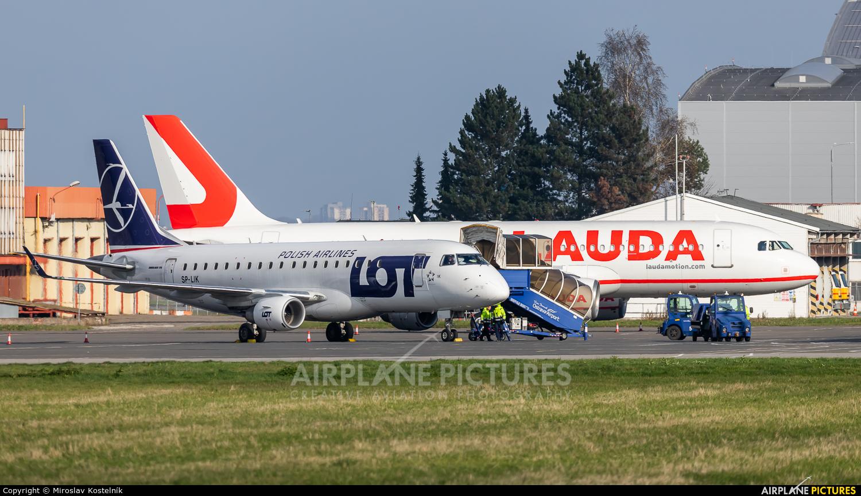 LOT - Polish Airlines SP-LIK aircraft at Ostrava Mošnov
