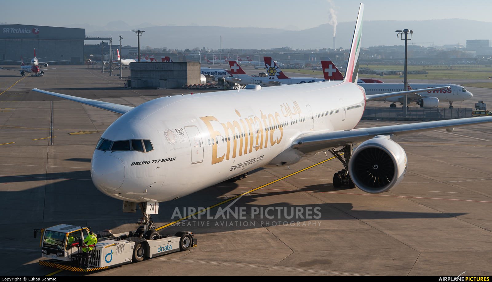 Emirates Airlines A6-EQA aircraft at Zurich