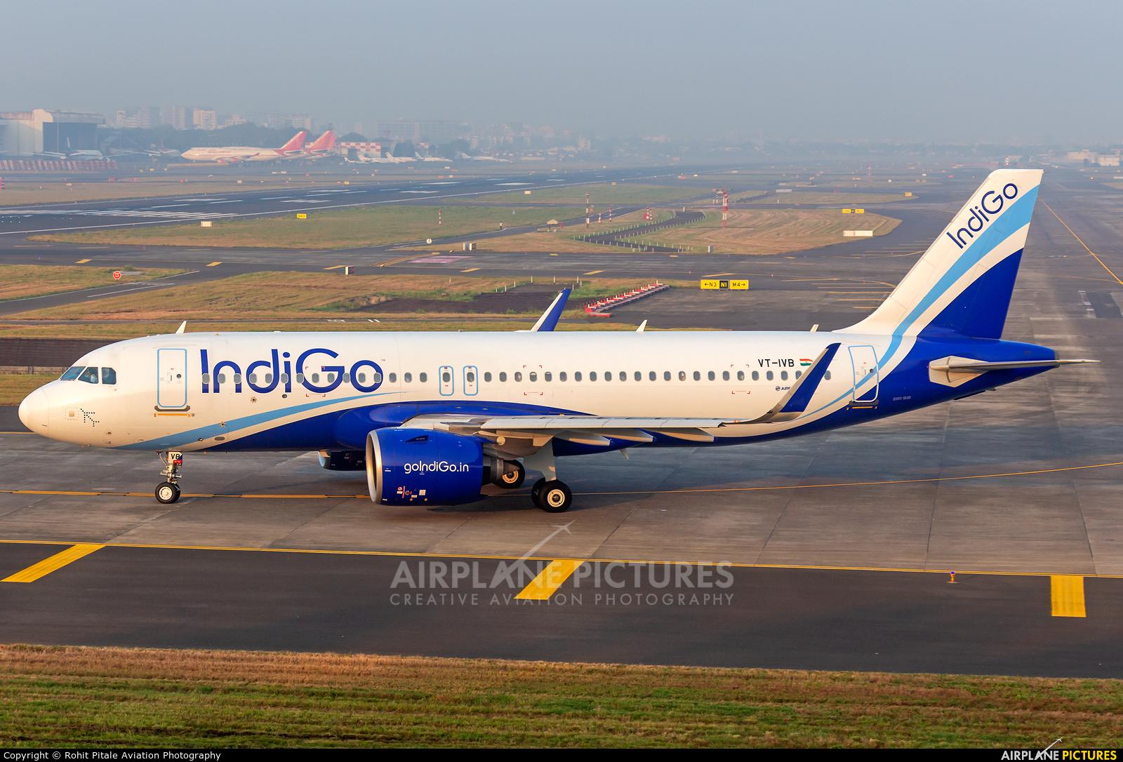 IndiGo VT-IVB aircraft at Mumbai - Chhatrapati Shivaji Intl