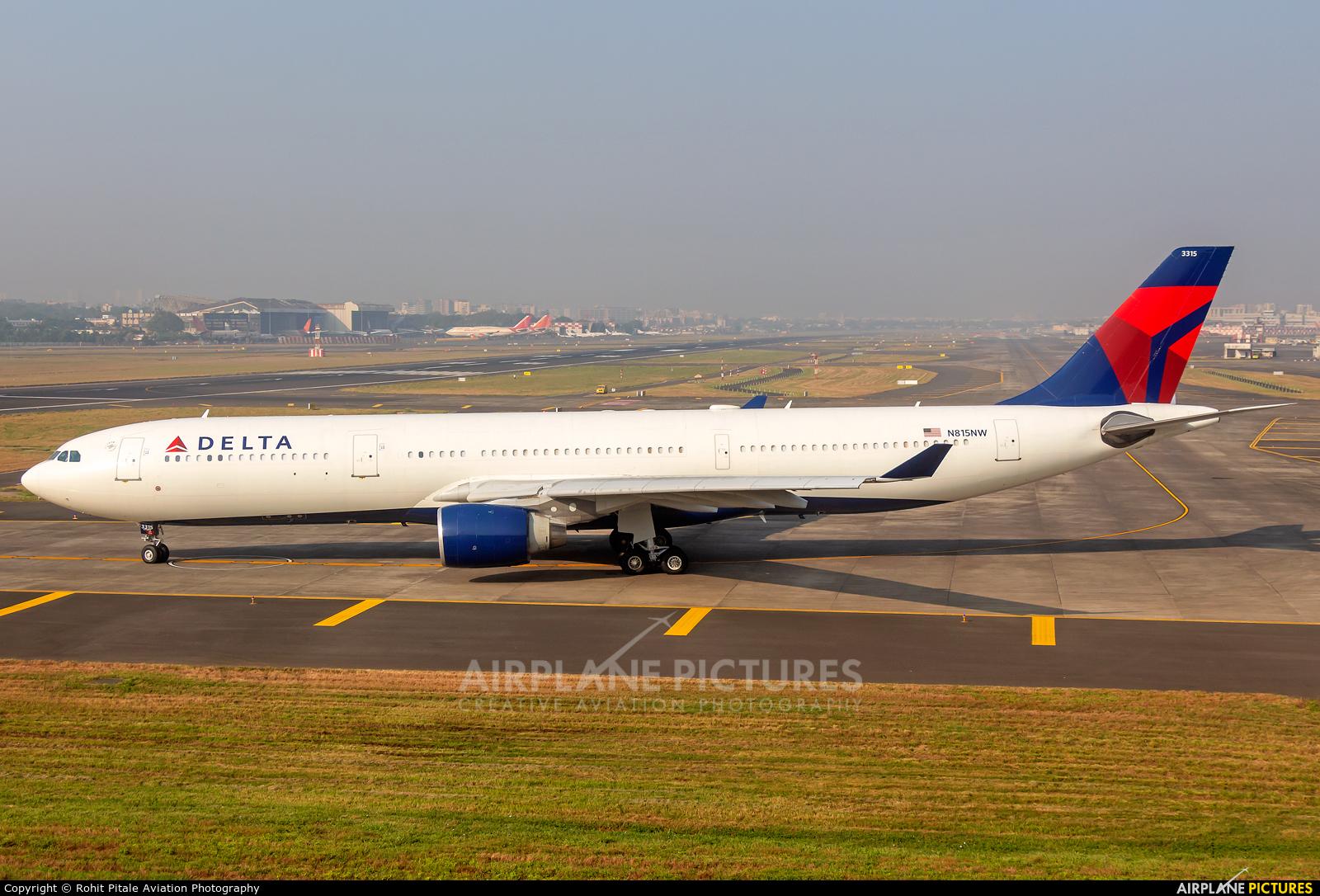 Delta Air Lines N815NW aircraft at Mumbai - Chhatrapati Shivaji Intl