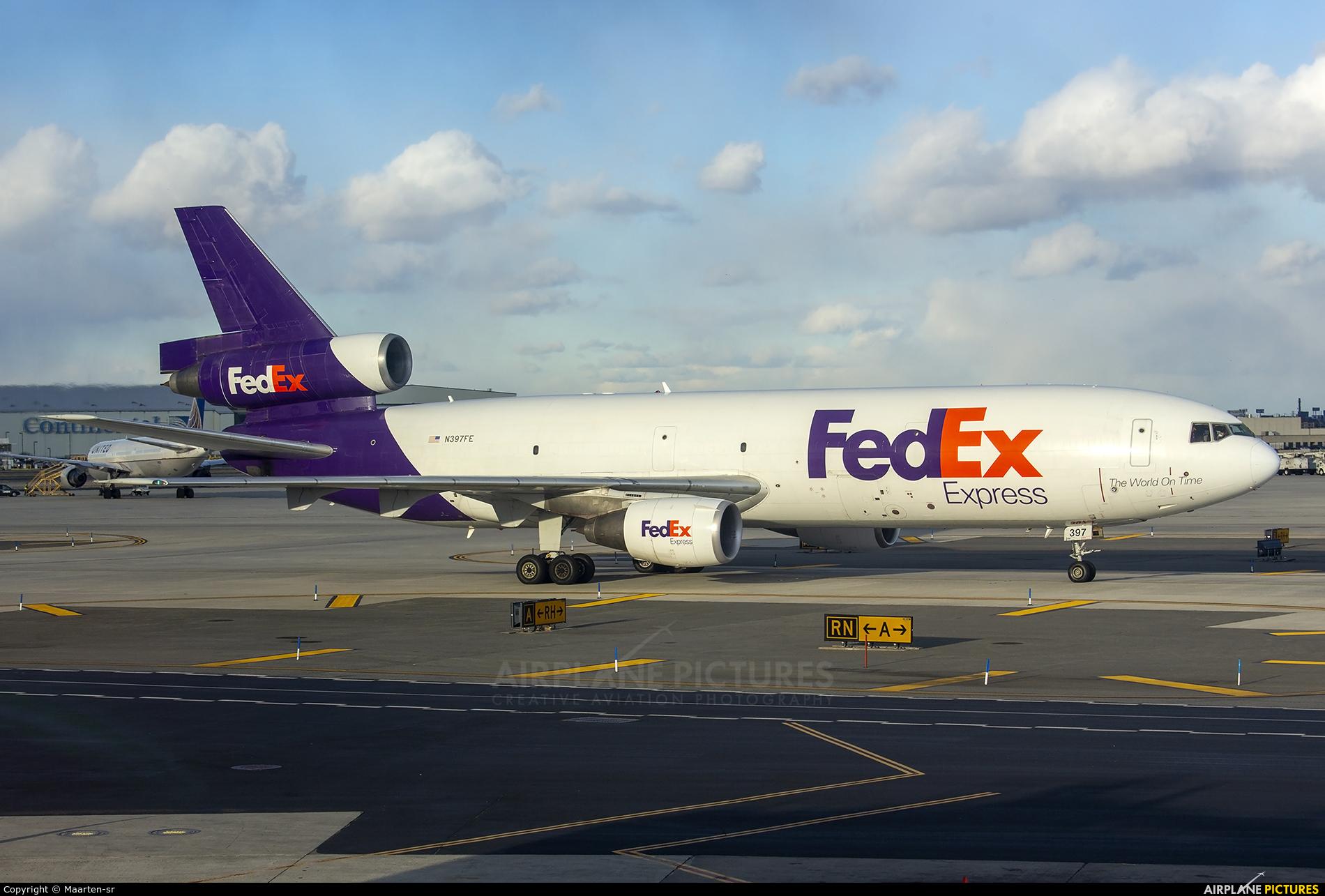 FedEx Federal Express N397FE aircraft at Newark Liberty Intl