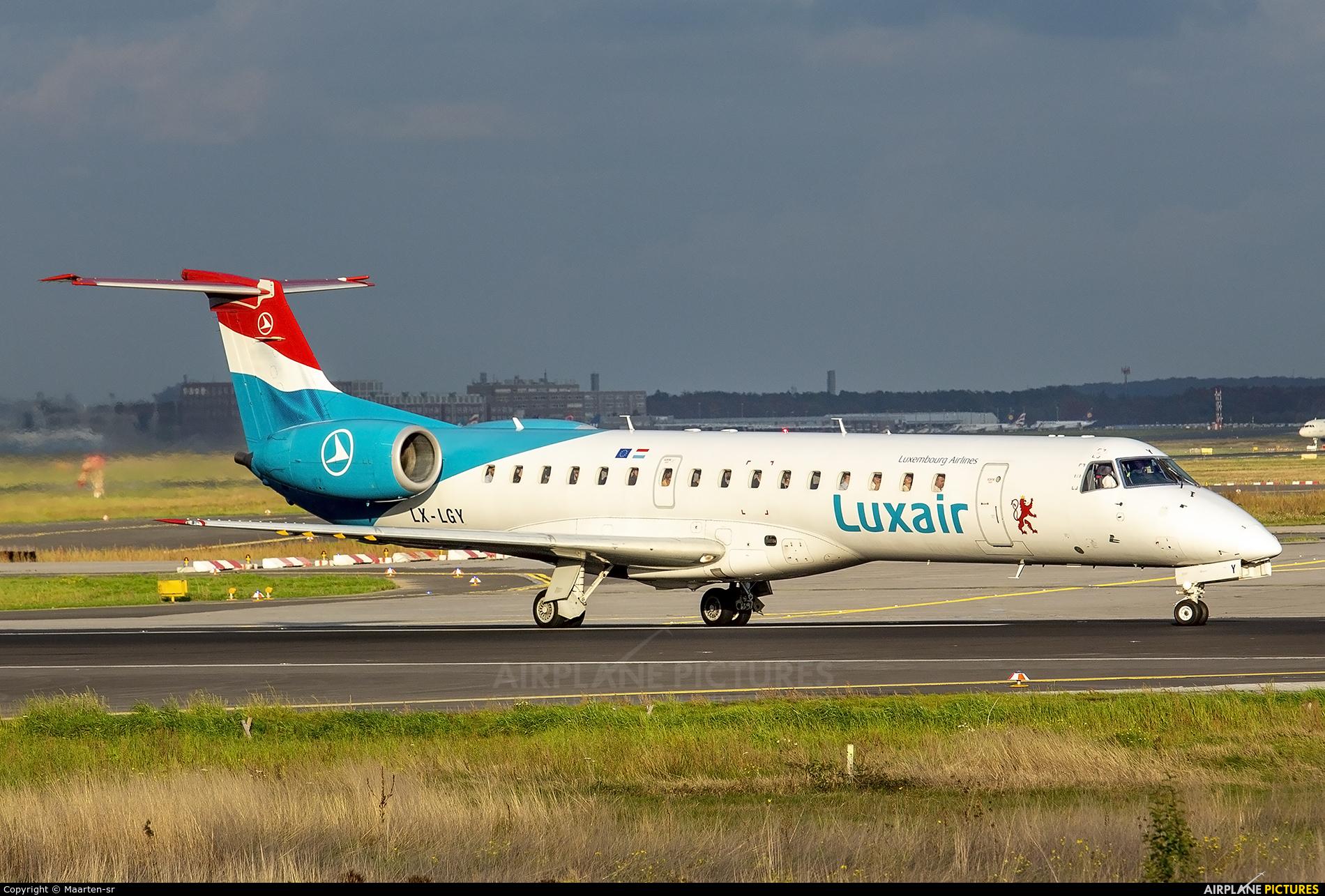 Luxair LX-LGY aircraft at Frankfurt