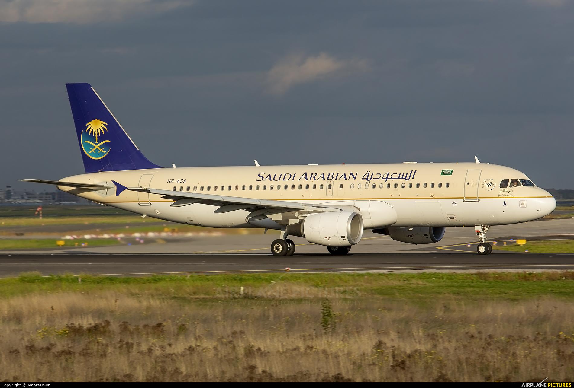 Saudi Arabian Airlines HZ-ASA aircraft at Frankfurt