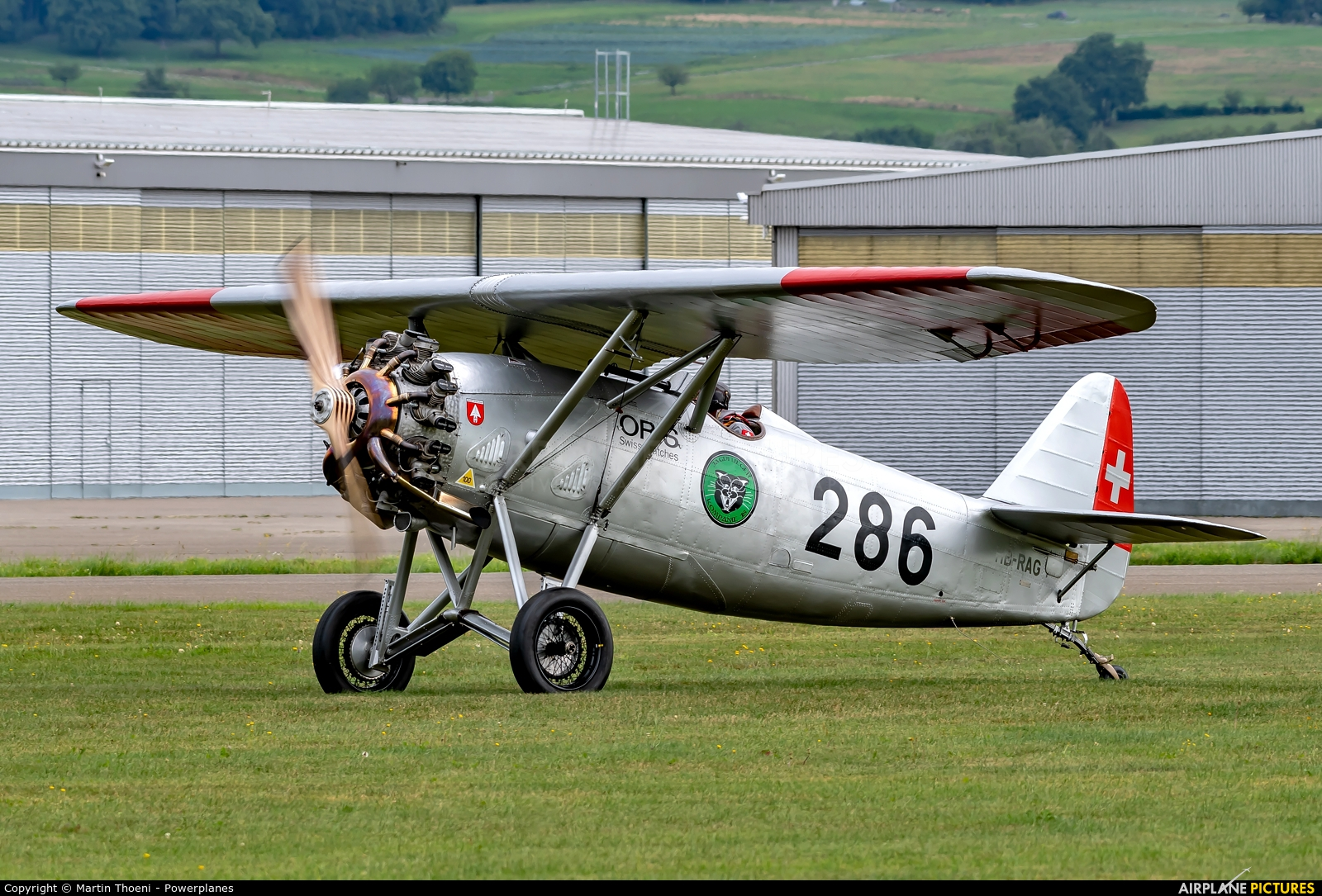 Private HB-RAG aircraft at Birrfeld