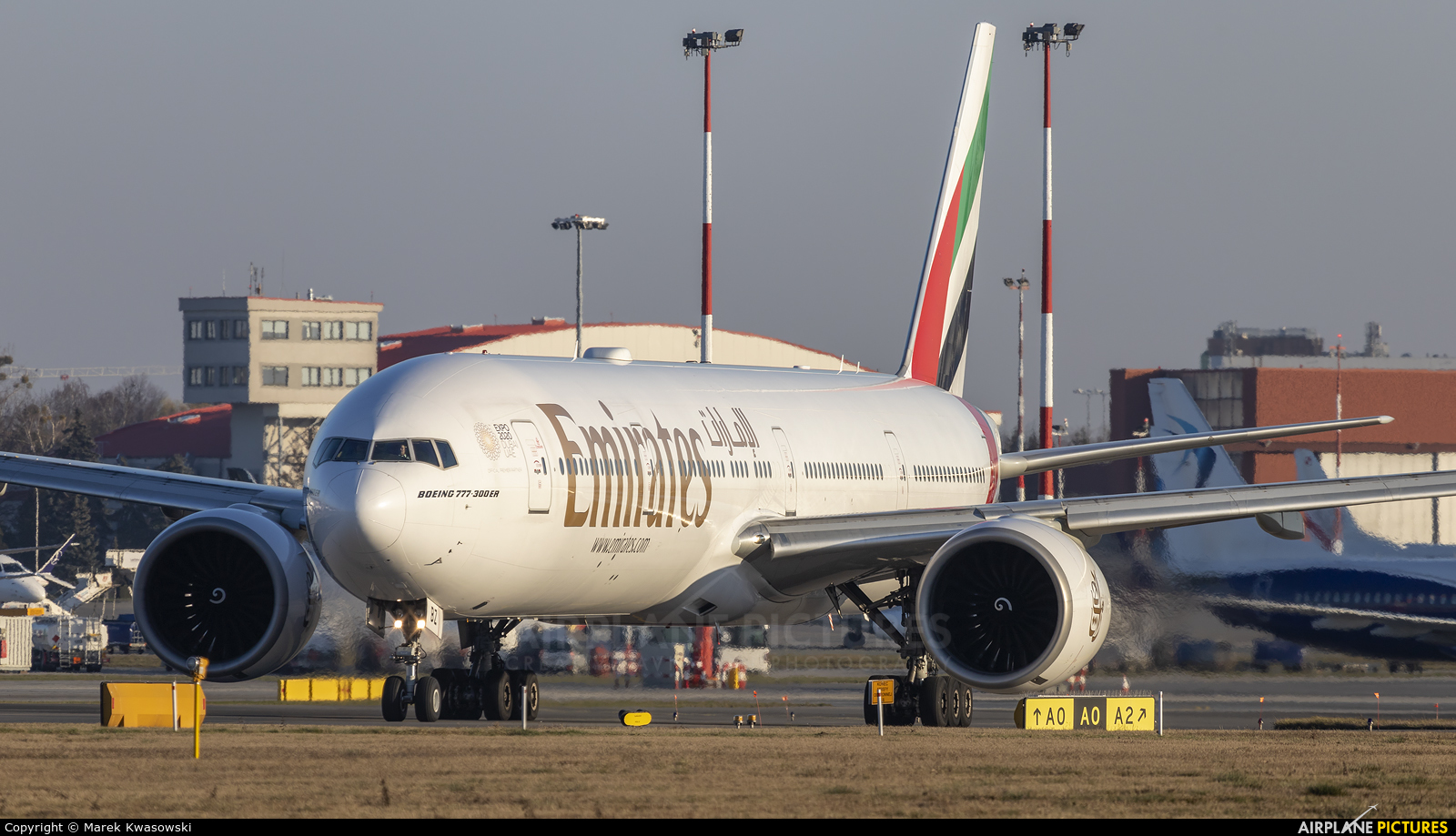 Emirates Airlines A6-EBZ aircraft at Warsaw - Frederic Chopin