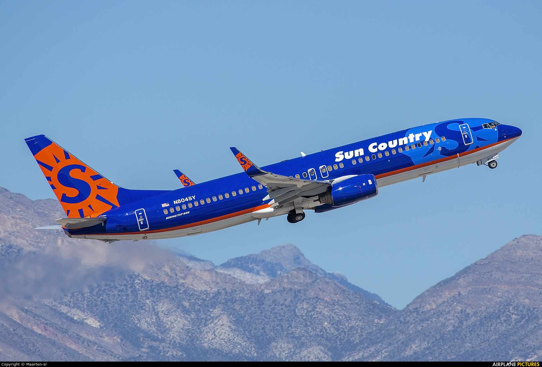 Sun Country Airlines N804SY aircraft at Las Vegas - McCarran Intl