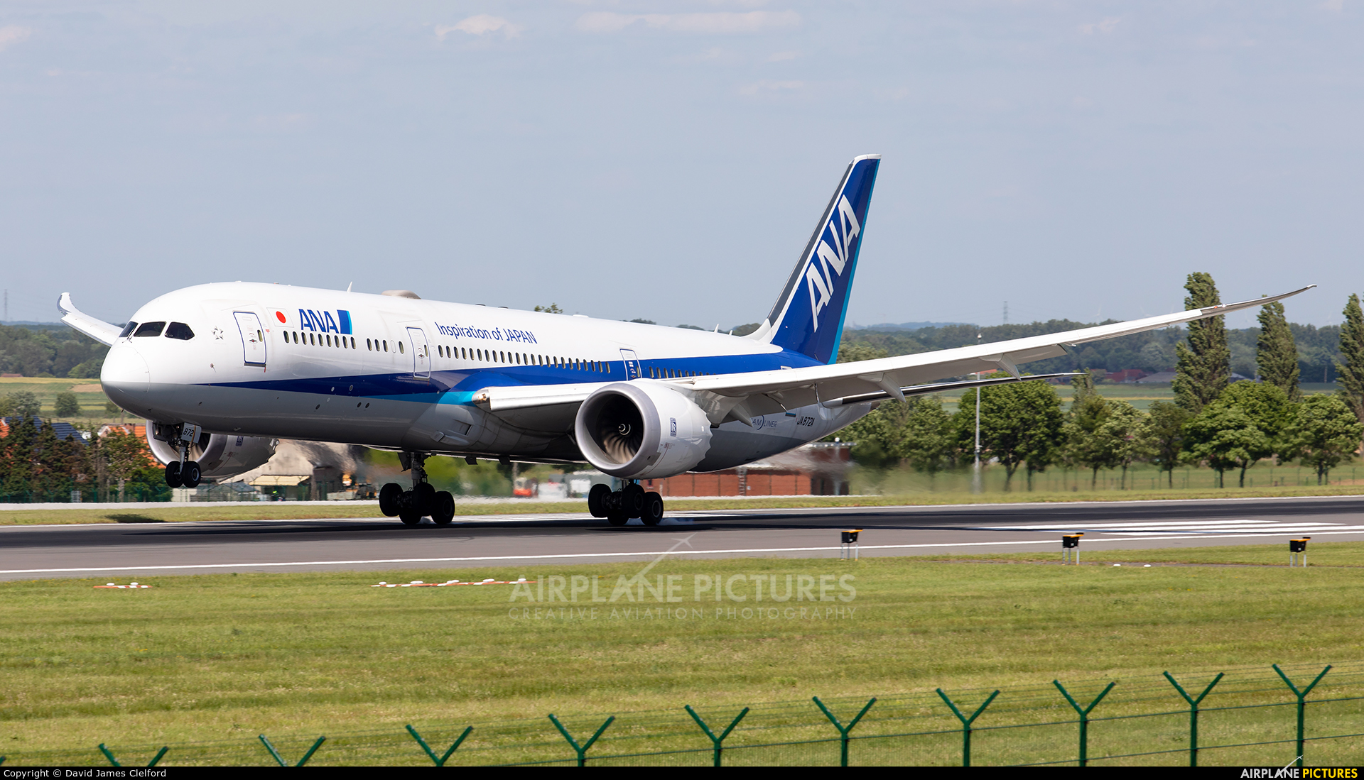 ANA - All Nippon Airways JA872A aircraft at Brussels - Zaventem