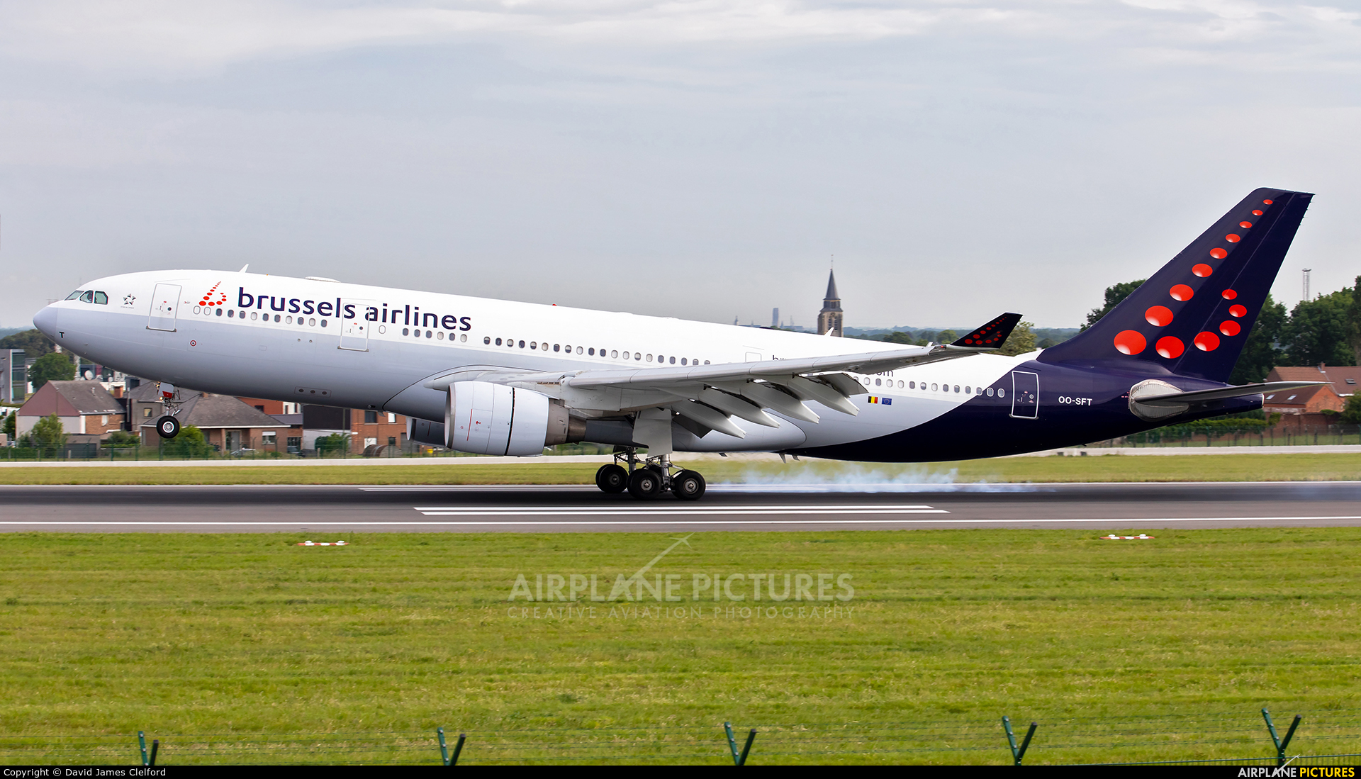 Brussels Airlines OO-SFT aircraft at Brussels - Zaventem