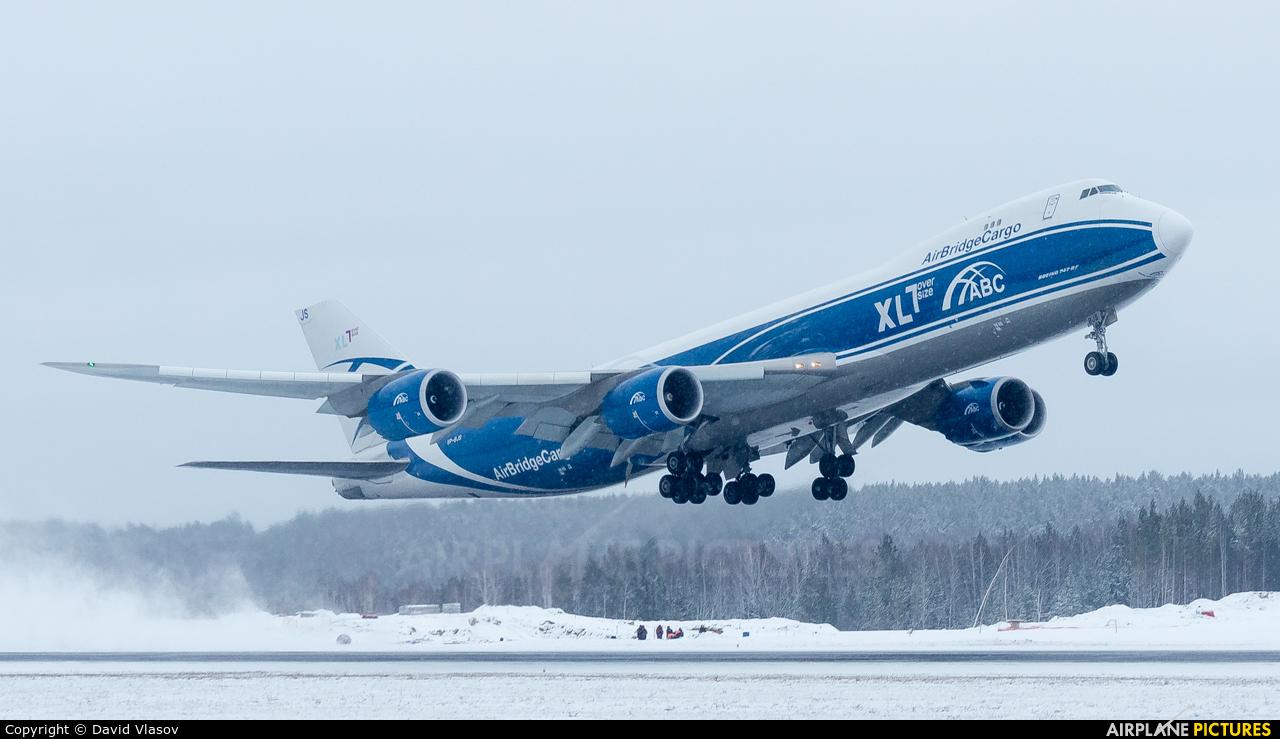 Air Bridge Cargo VP-BJS aircraft at Krasnoyarsk - Yemelyanovo