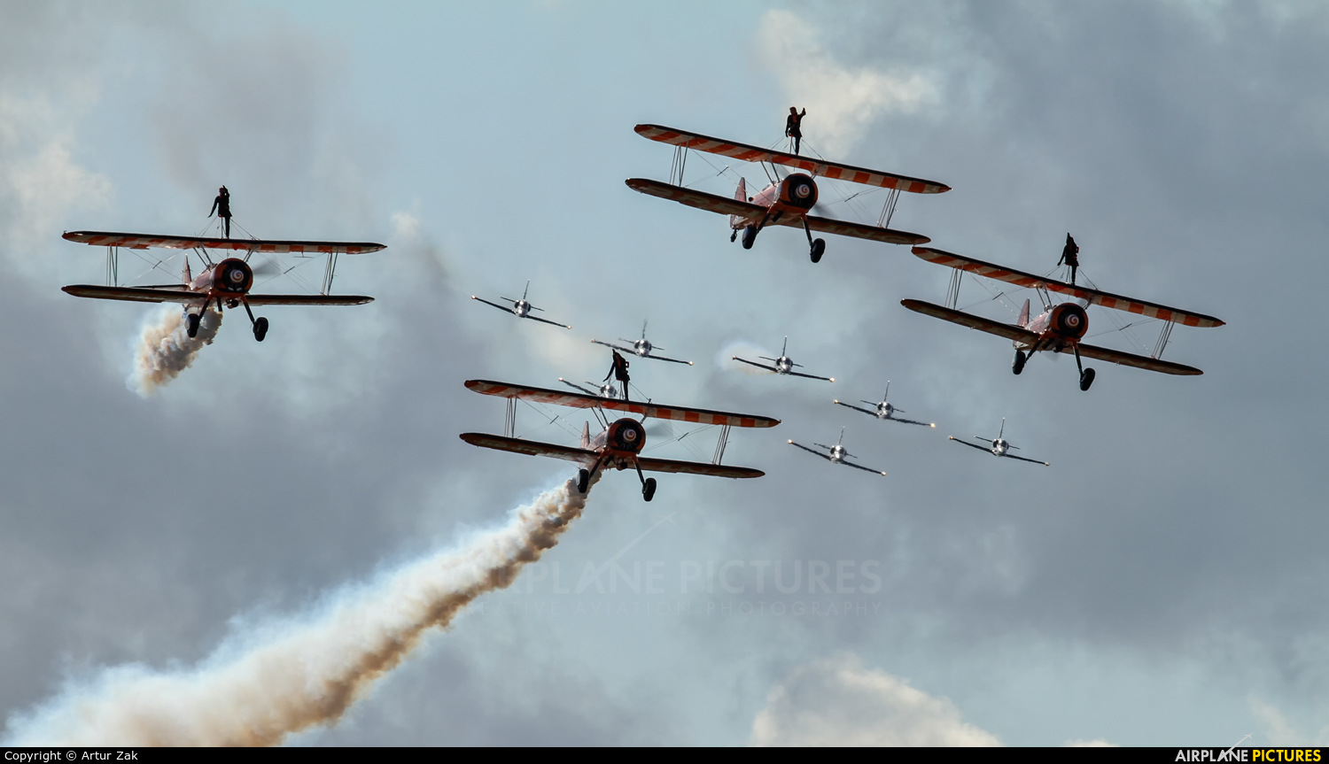 Breitling Wingwalkers N5057V aircraft at Fairford