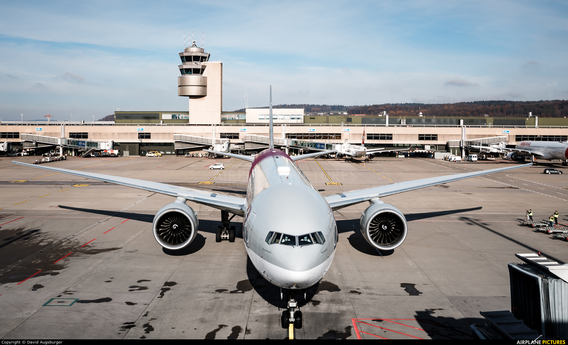 Qatar Airways A7-BEB aircraft at Zurich