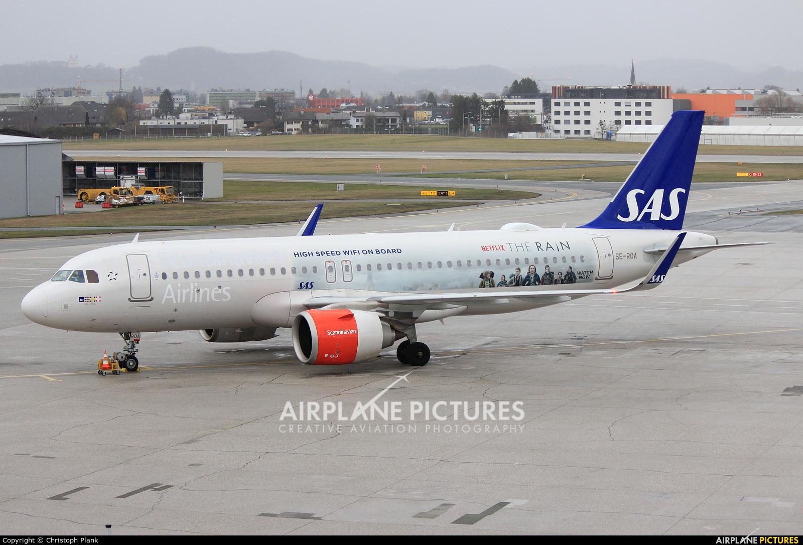 SAS - Scandinavian Airlines SE-ROA aircraft at Salzburg