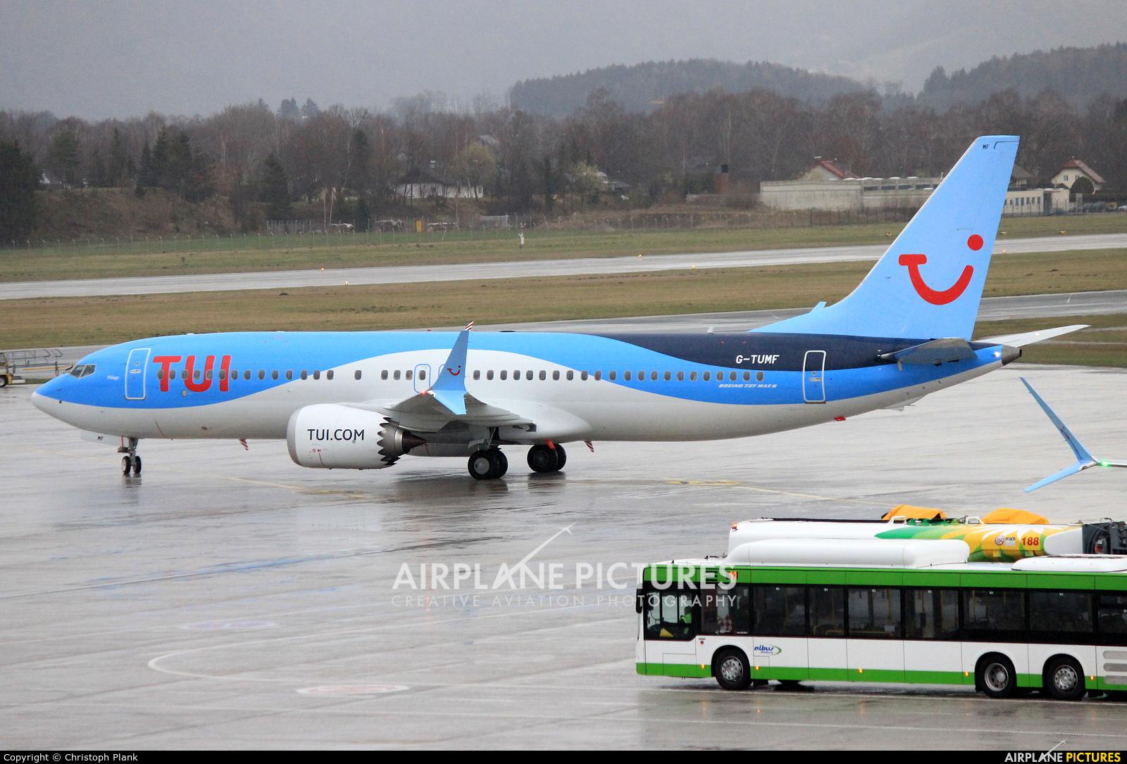 TUI Airways G-TUMF aircraft at Salzburg