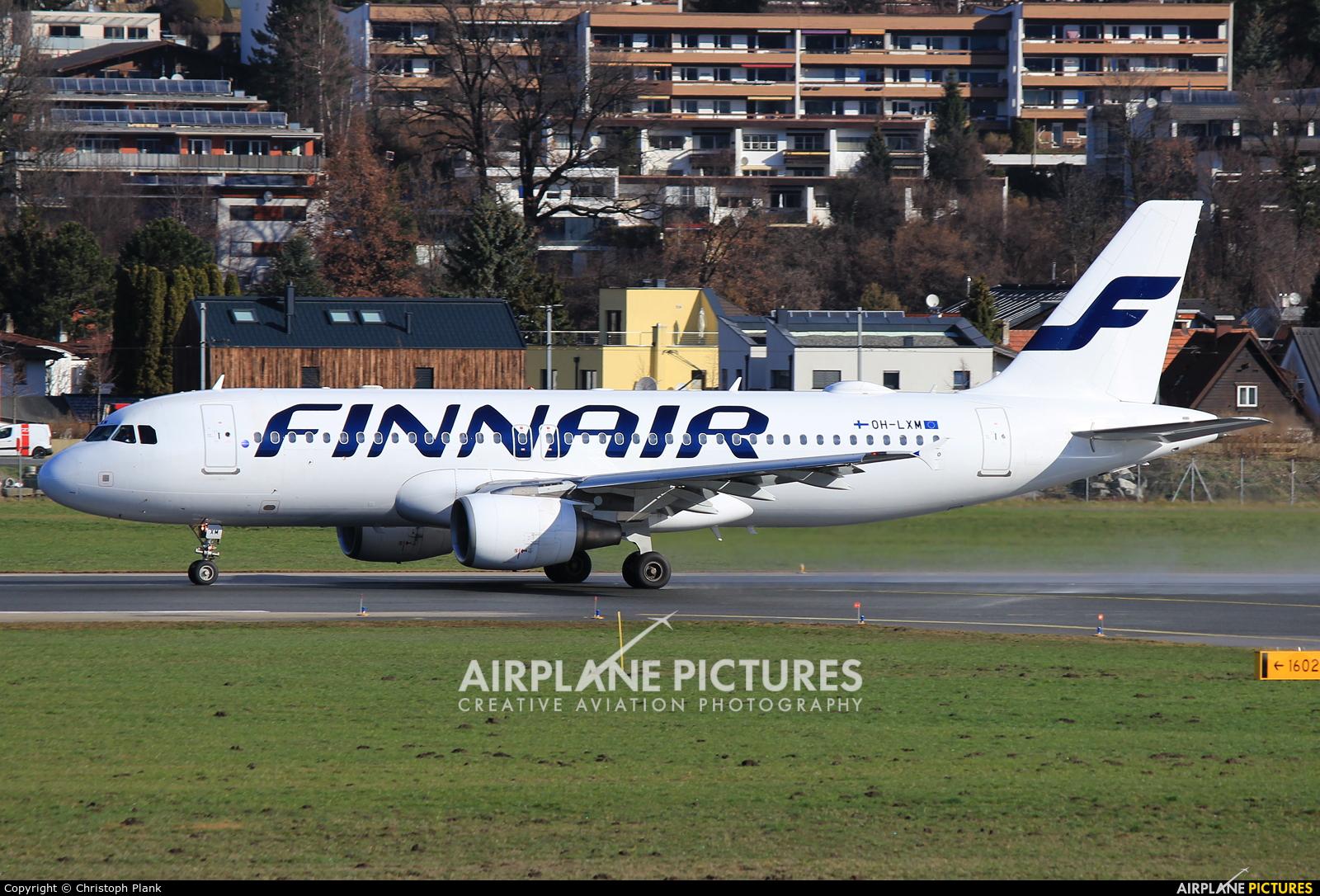 Finnair OH-LXM aircraft at Innsbruck
