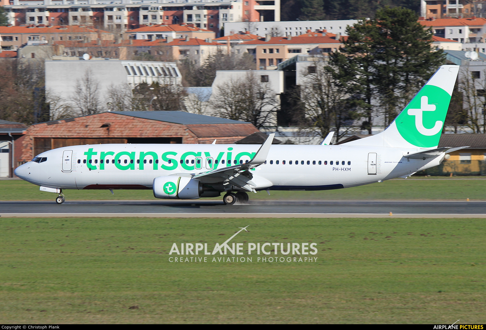 Transavia PH-HXM aircraft at Innsbruck