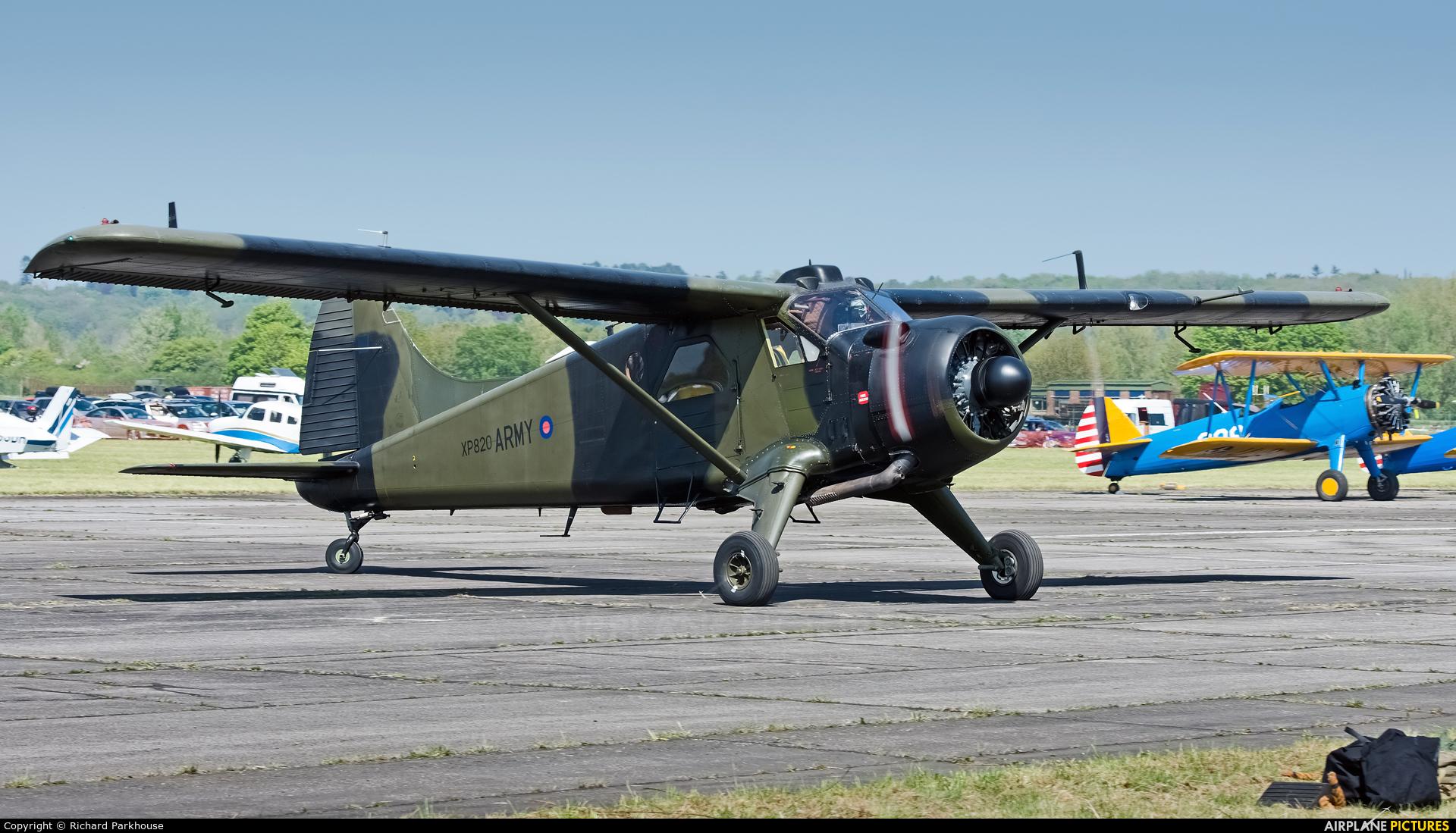 British Army XP820 aircraft at Abingdon