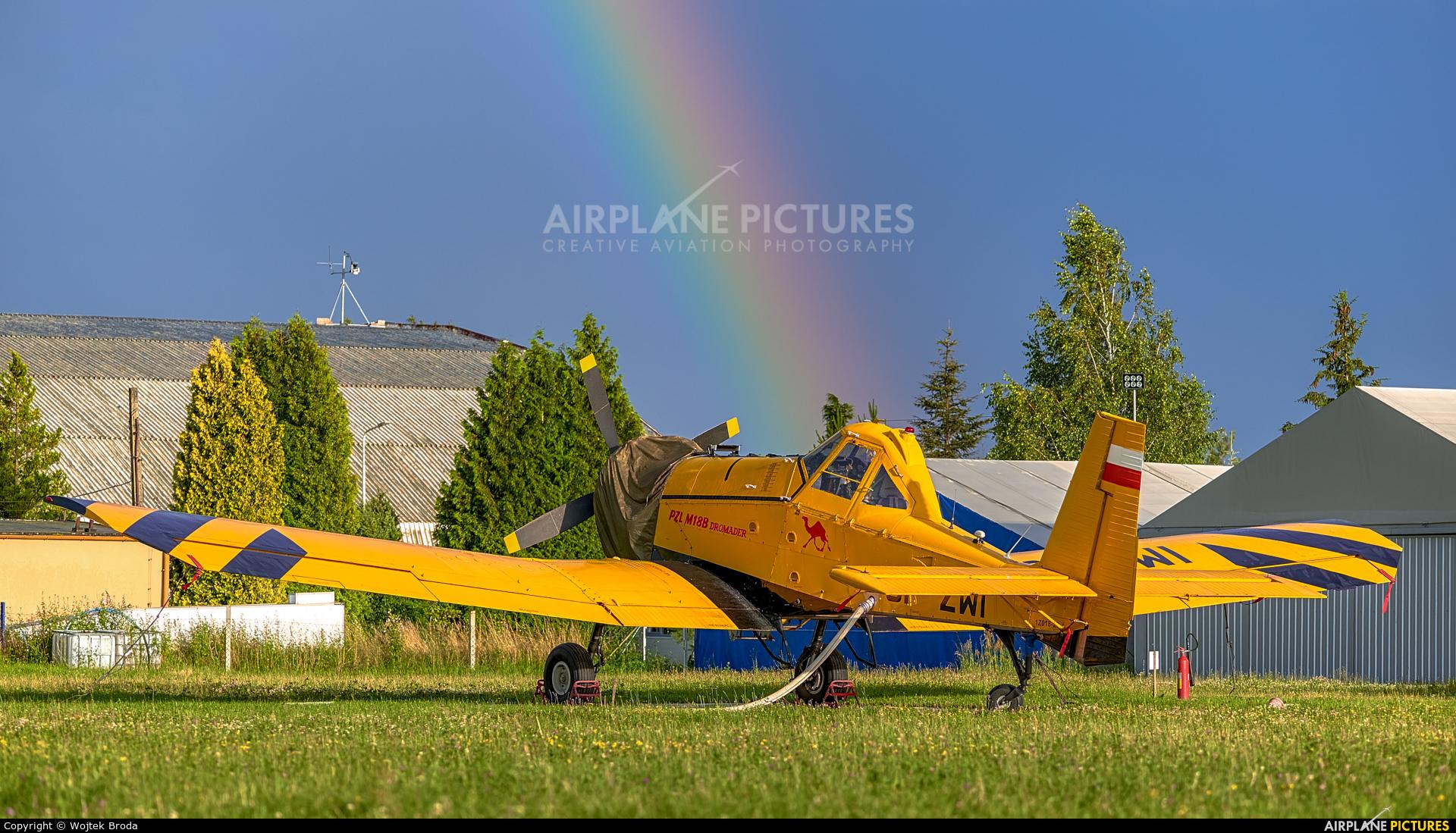 ZUA Mielec SP-ZWI aircraft at Wrocław - Szymanów