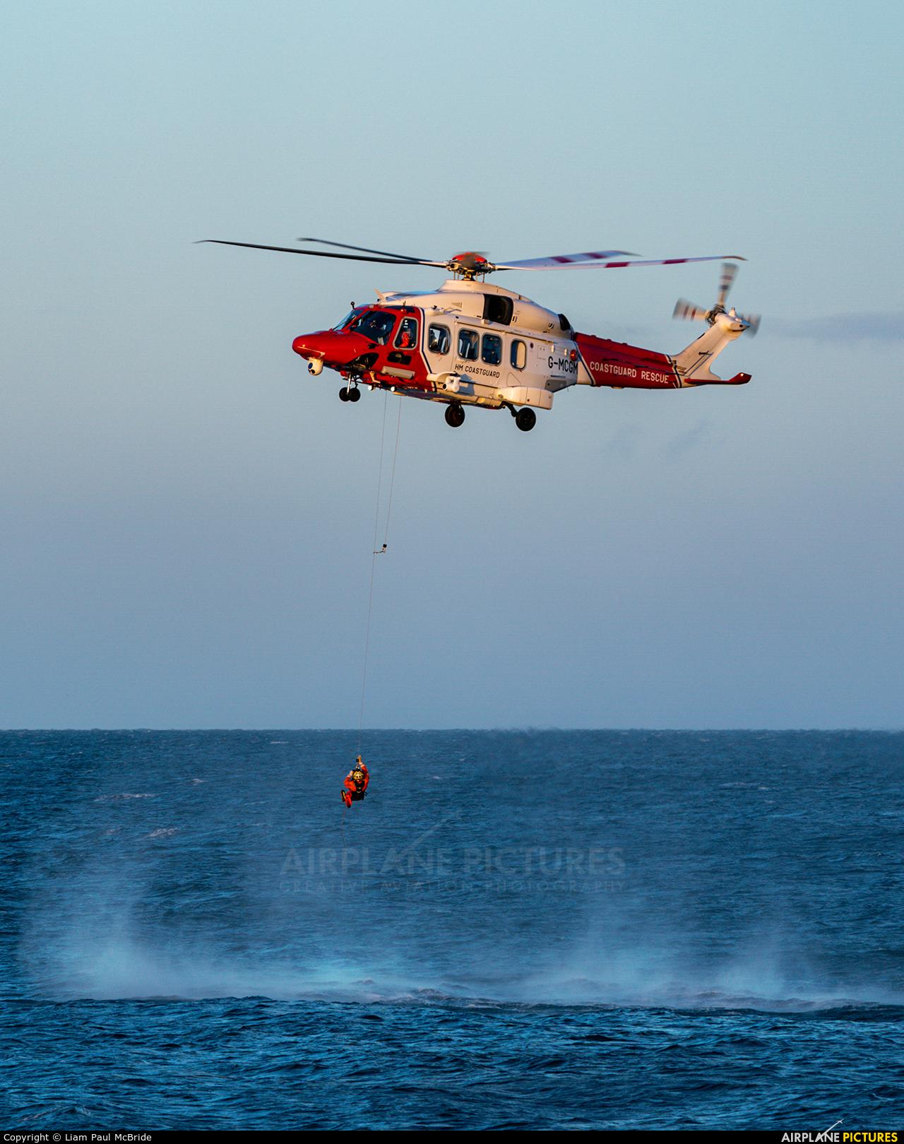 UK - Coastguard G-MCGM aircraft at Off Airport - Scotland