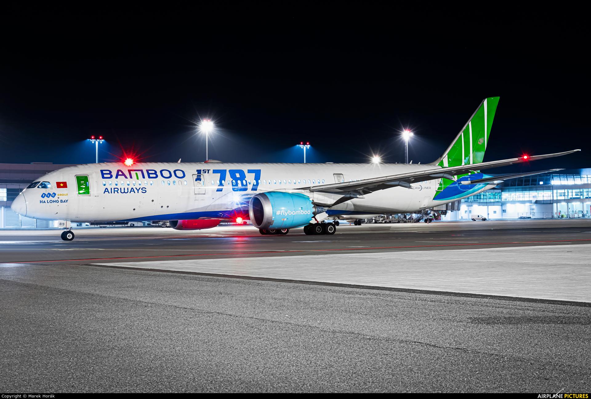 Bamboo Airways VN-A819 aircraft at Prague - Václav Havel