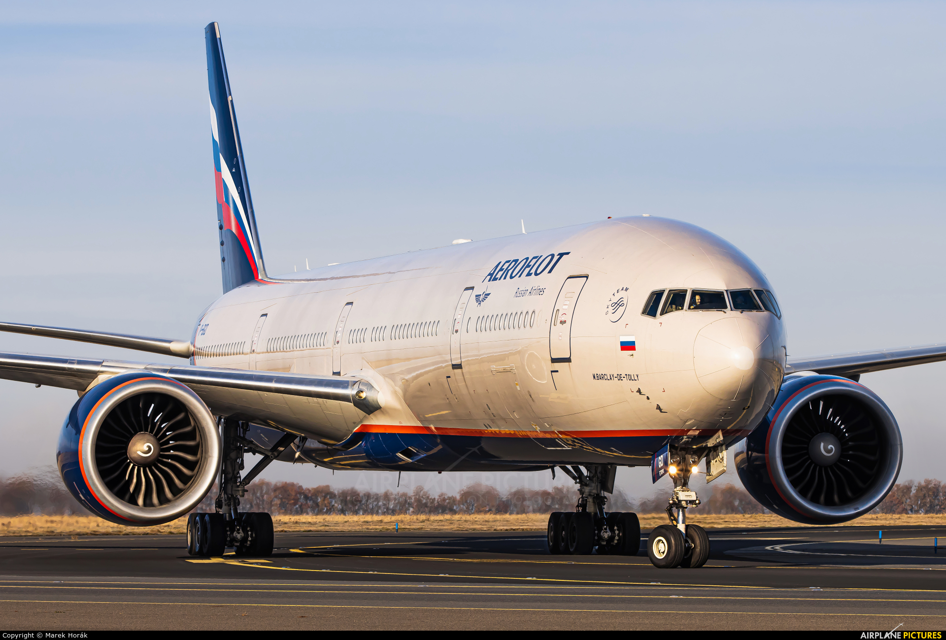Aeroflot VP-BGD aircraft at Prague - Václav Havel