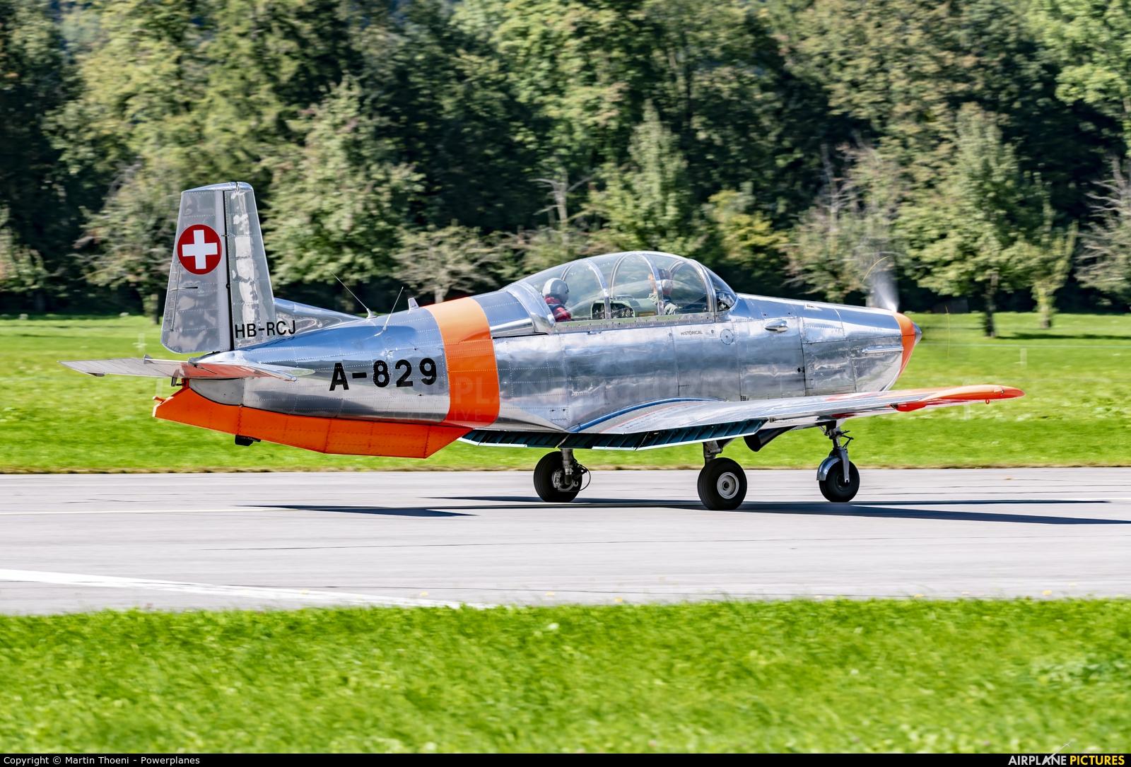 FFA Museum HB-RCJ aircraft at Mollis