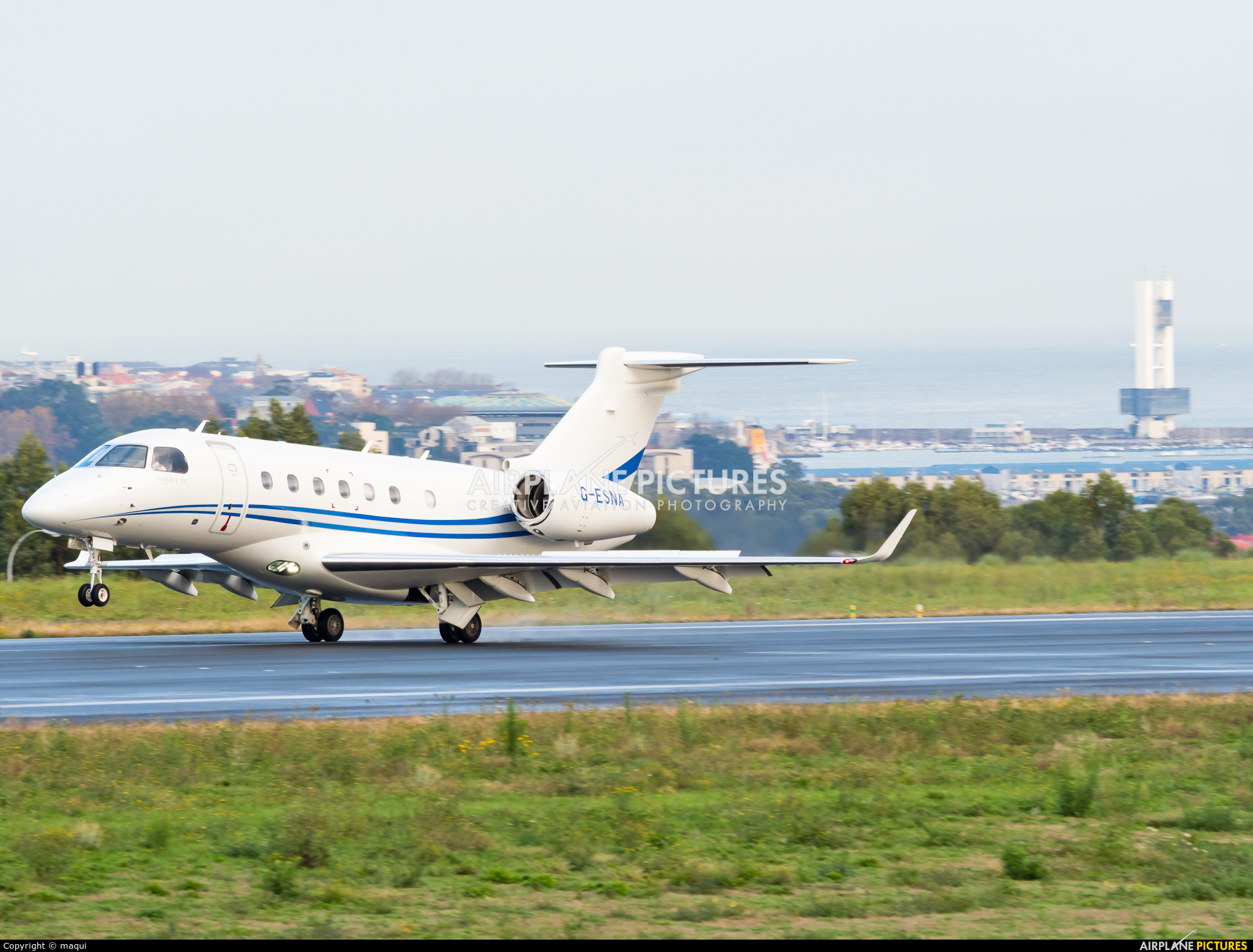 Air Charter Scotland G-ESNA aircraft at La Coruña