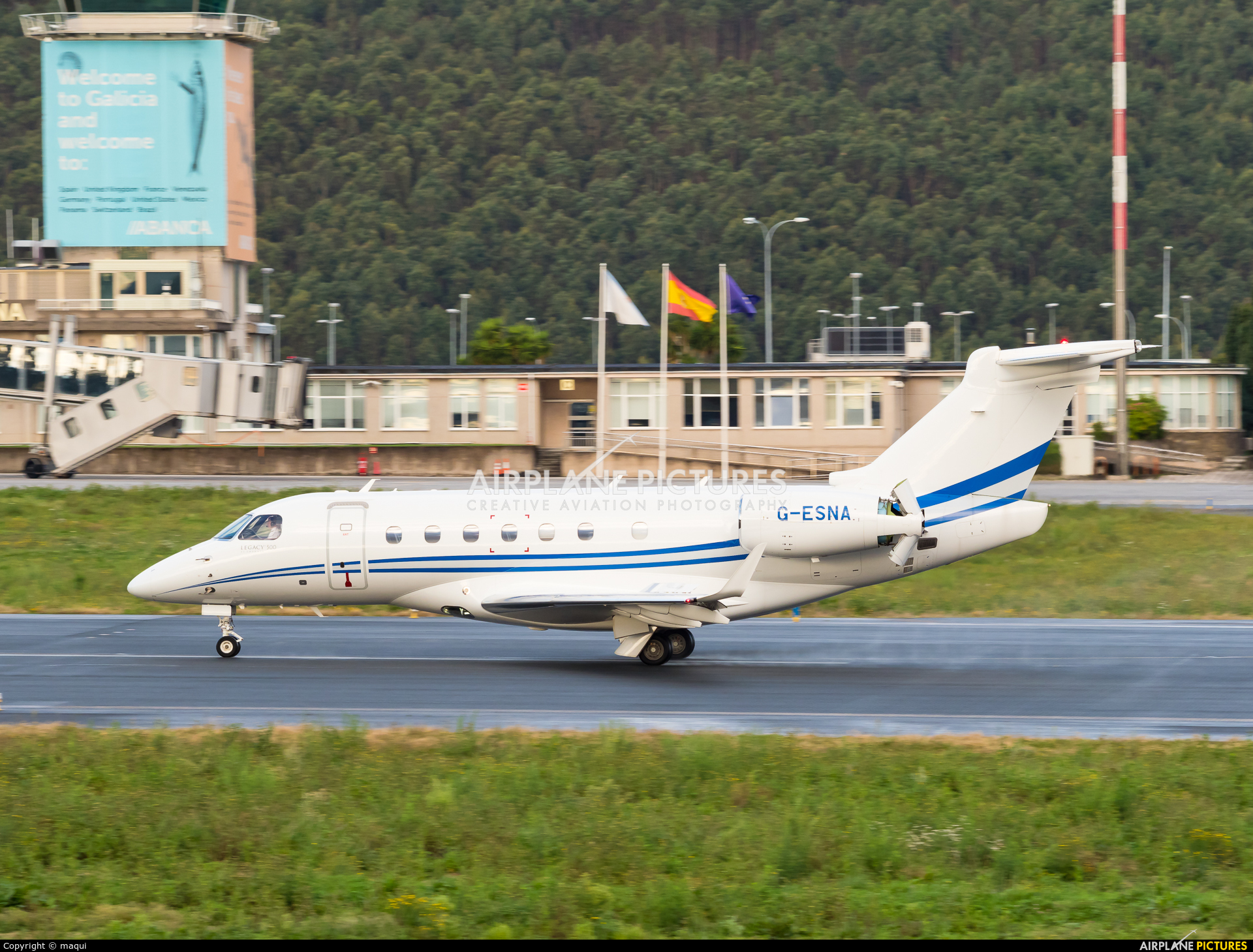 Air Charter Scotland G-ESNA aircraft at La Coruña