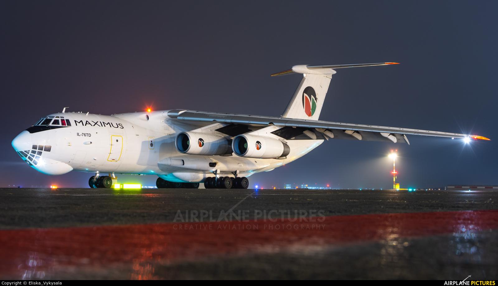 Maximus Air Cargo UR-BXQ aircraft at Prague - Václav Havel