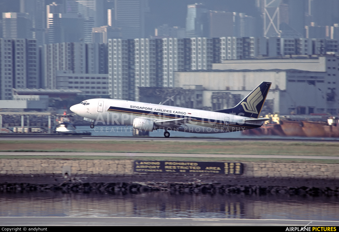 Singapore Airlines Cargo 9V-SQZ aircraft at HKG - Kai Tak Intl CLOSED