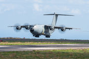 Spanish Air Force Airbus A400 visited Tenerife Los Rodeos title=