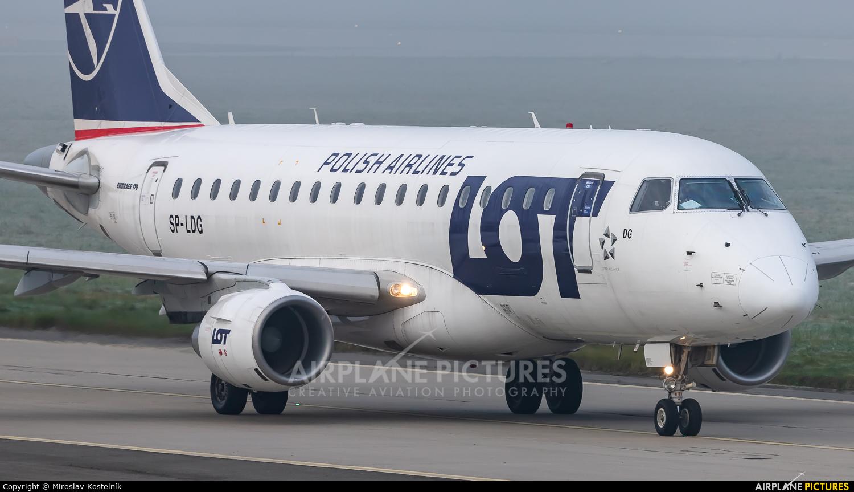 LOT - Polish Airlines SP-LDG aircraft at Ostrava Mošnov