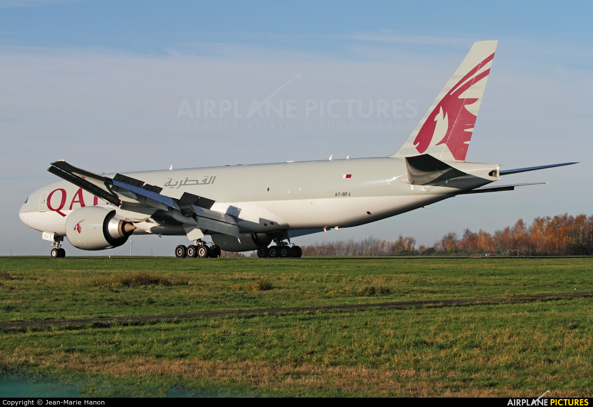Qatar Airways Cargo A7-BFJ aircraft at Liège-Bierset