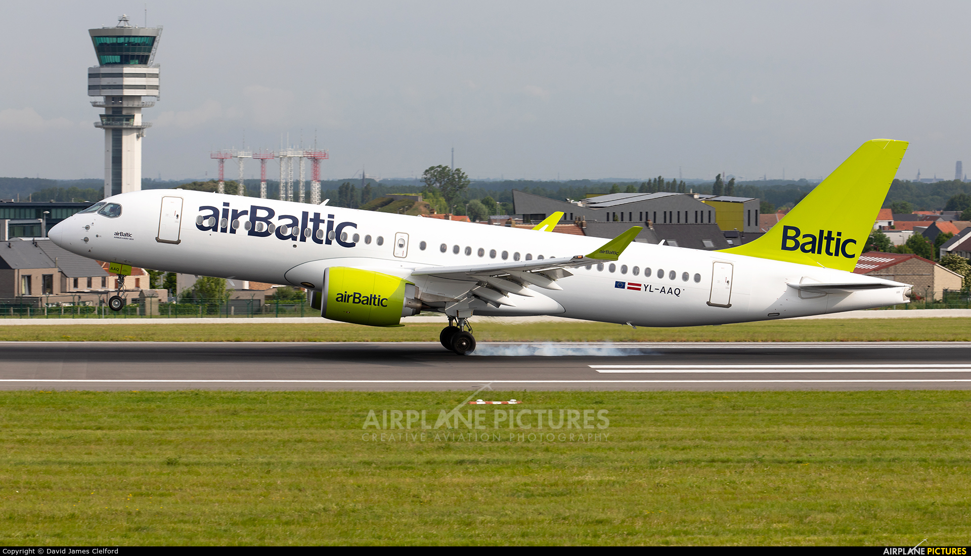 Air Baltic YL-AAQ aircraft at Brussels - Zaventem
