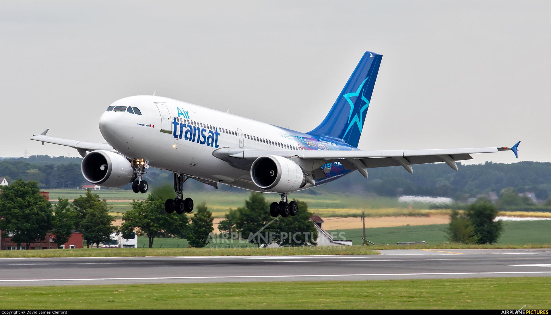 Air Transat C-GSAT aircraft at Brussels - Zaventem