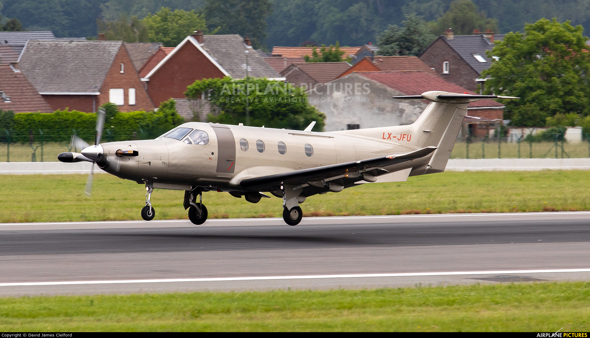 Private LX-JFU aircraft at Brussels - Zaventem