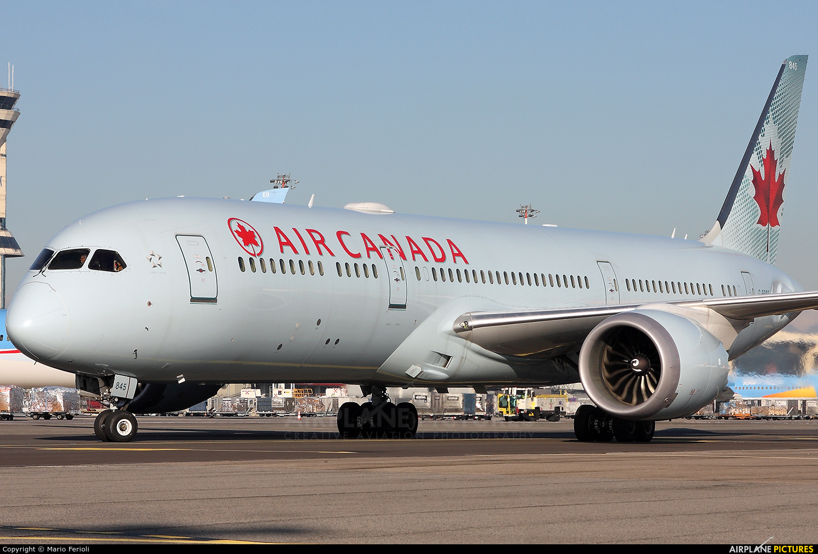 Air Canada C-FRSE aircraft at Milan - Malpensa