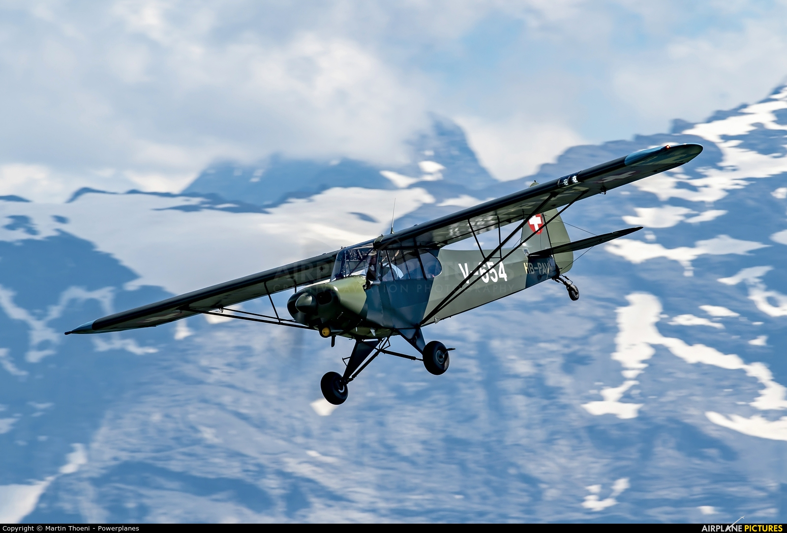 Private HB-PAV aircraft at Off Airport - Swiss Alps