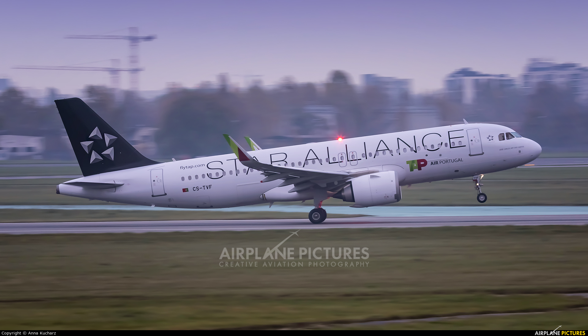 TAP Portugal CS-TVF aircraft at Warsaw - Frederic Chopin