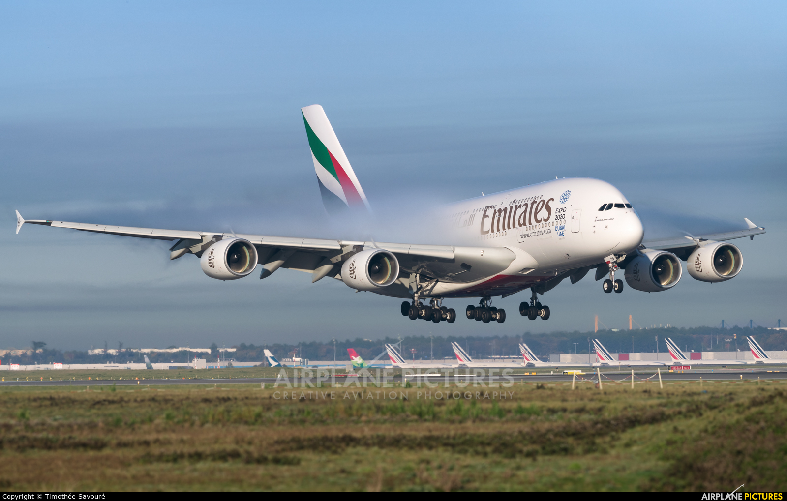 Emirates Airlines A6-EOQ aircraft at Paris - Charles de Gaulle