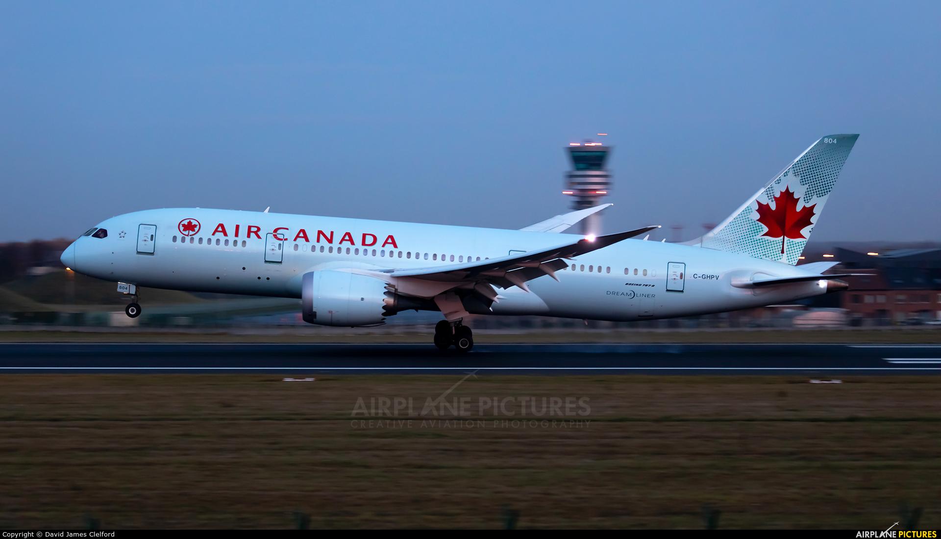 Air Canada C-GHPV aircraft at Brussels - Zaventem